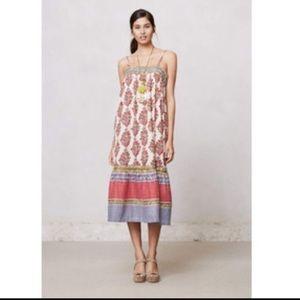 Anthropologie Lilka Flowy boho cotton maxi dress